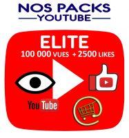 Notre pack ELITE associe des vues et des likes pour votre vidéo youtube, pour un meilleur impact sur votre popularité
